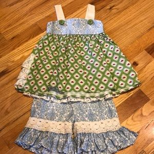 EUC Persnickety dress and shorts